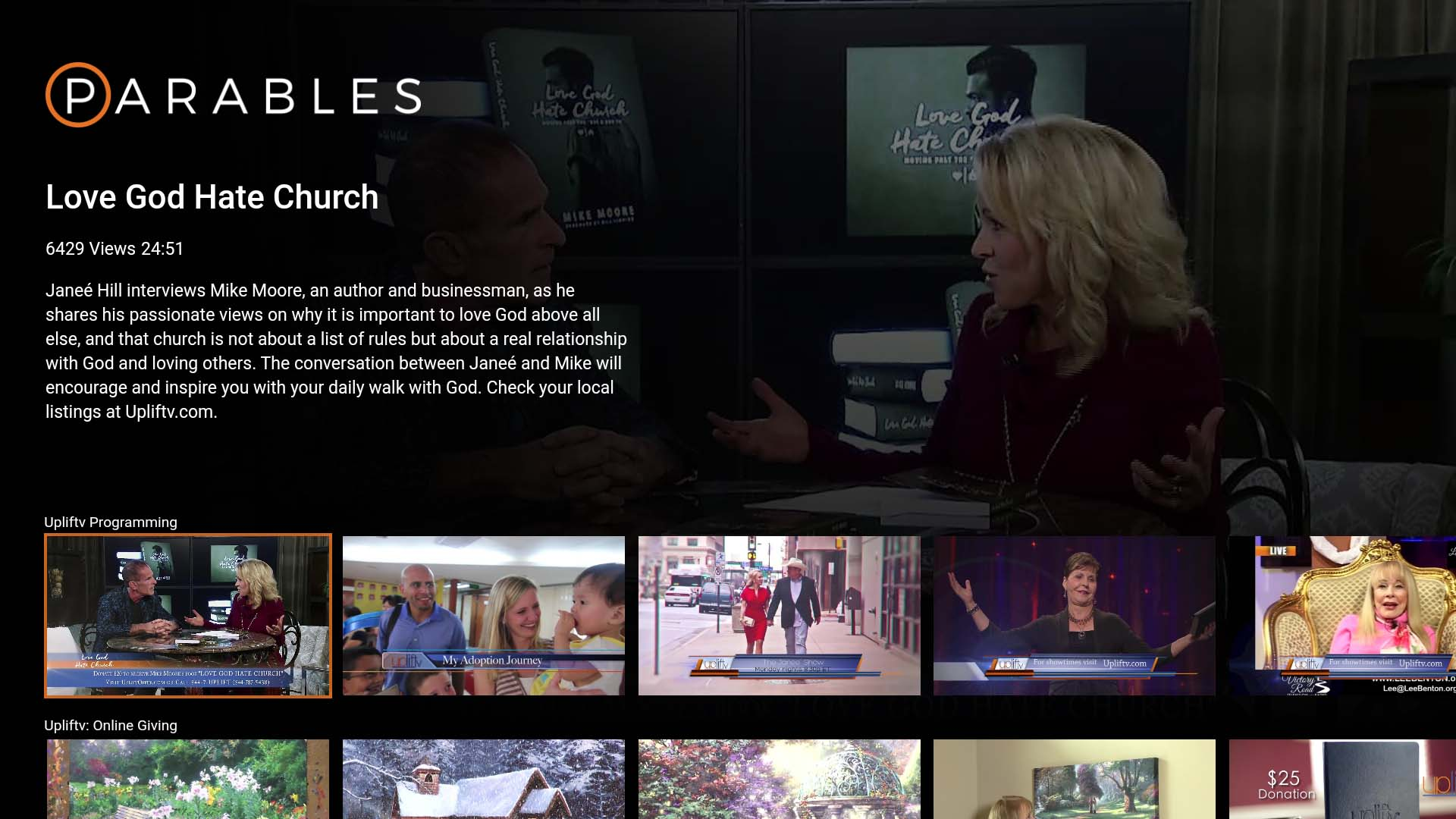 Parables TV Screenshot 002