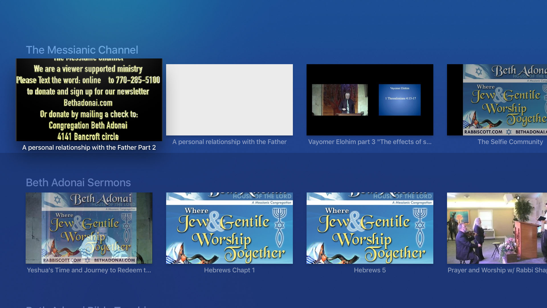 The Messianic Channel Screenshot 002
