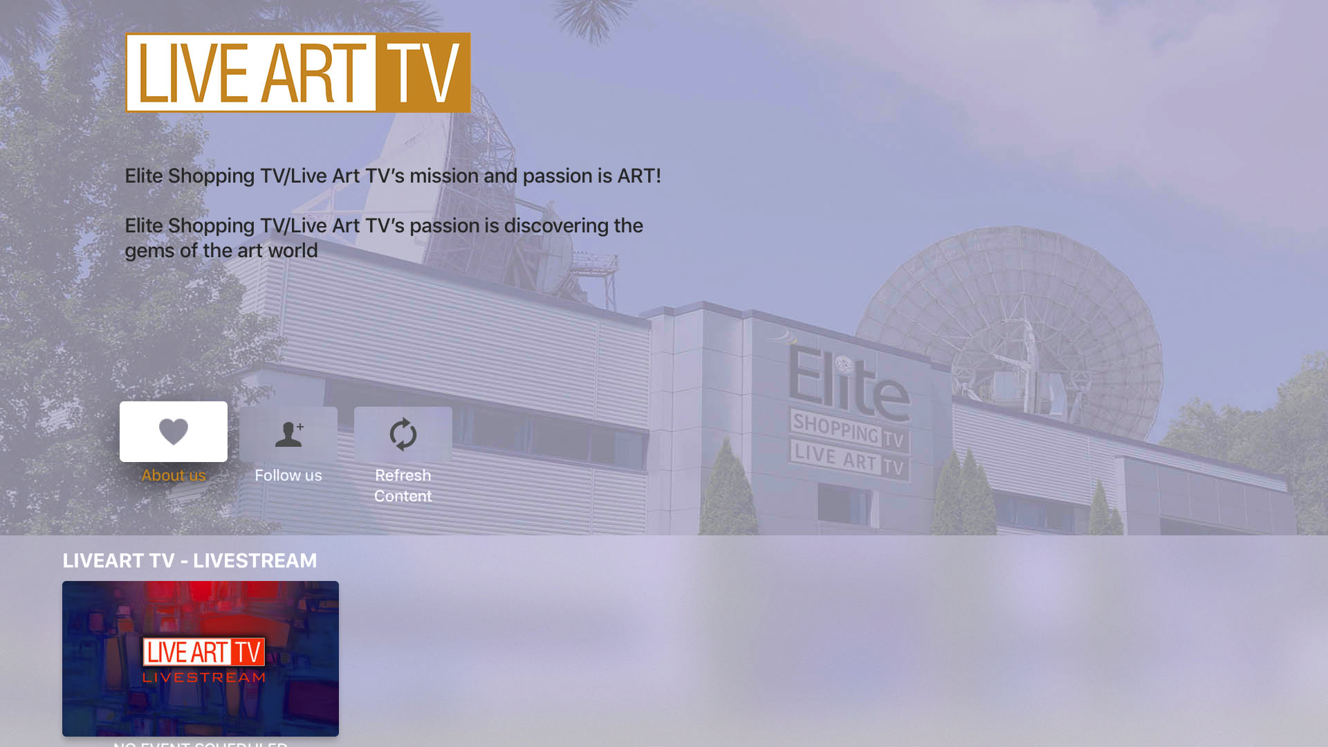 Elite Shopping TV/Live Art TV Screenshot 001