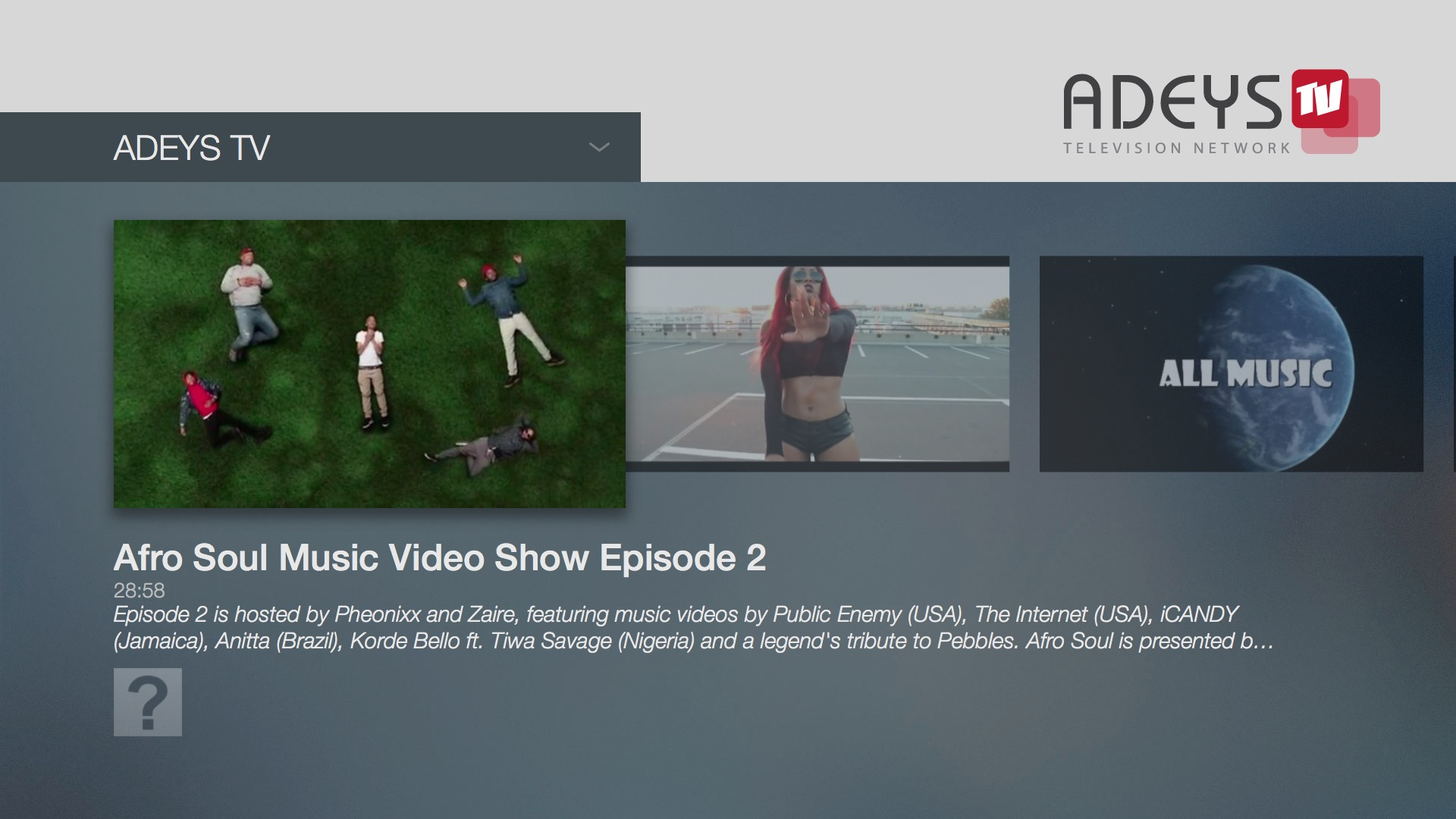 ADEYS TV - Fire TV App | Lightcast com