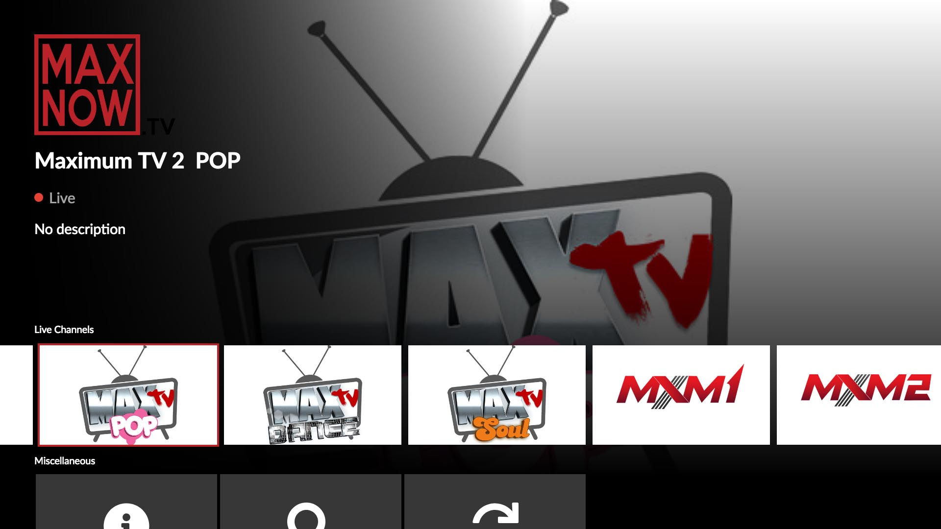 MaxNow.TV Screenshot 001