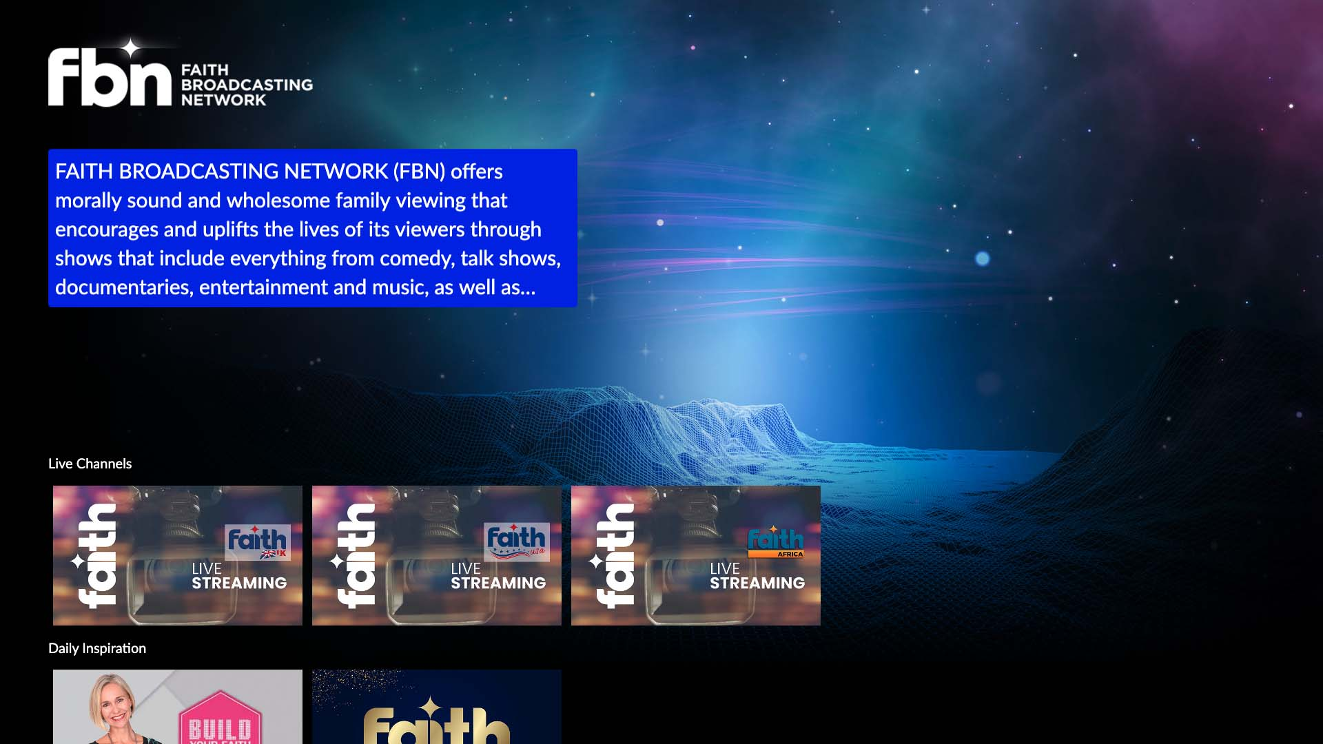 Faith Broadcasting Network Screenshot 001