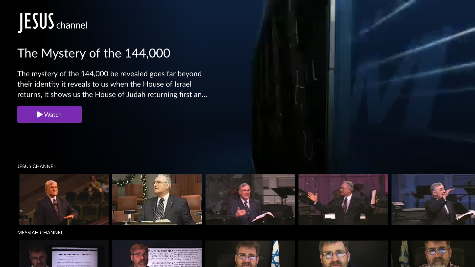 The Jesus Channel, the Multi-screen Faith and Lifestyle TV Network Screenshot 001