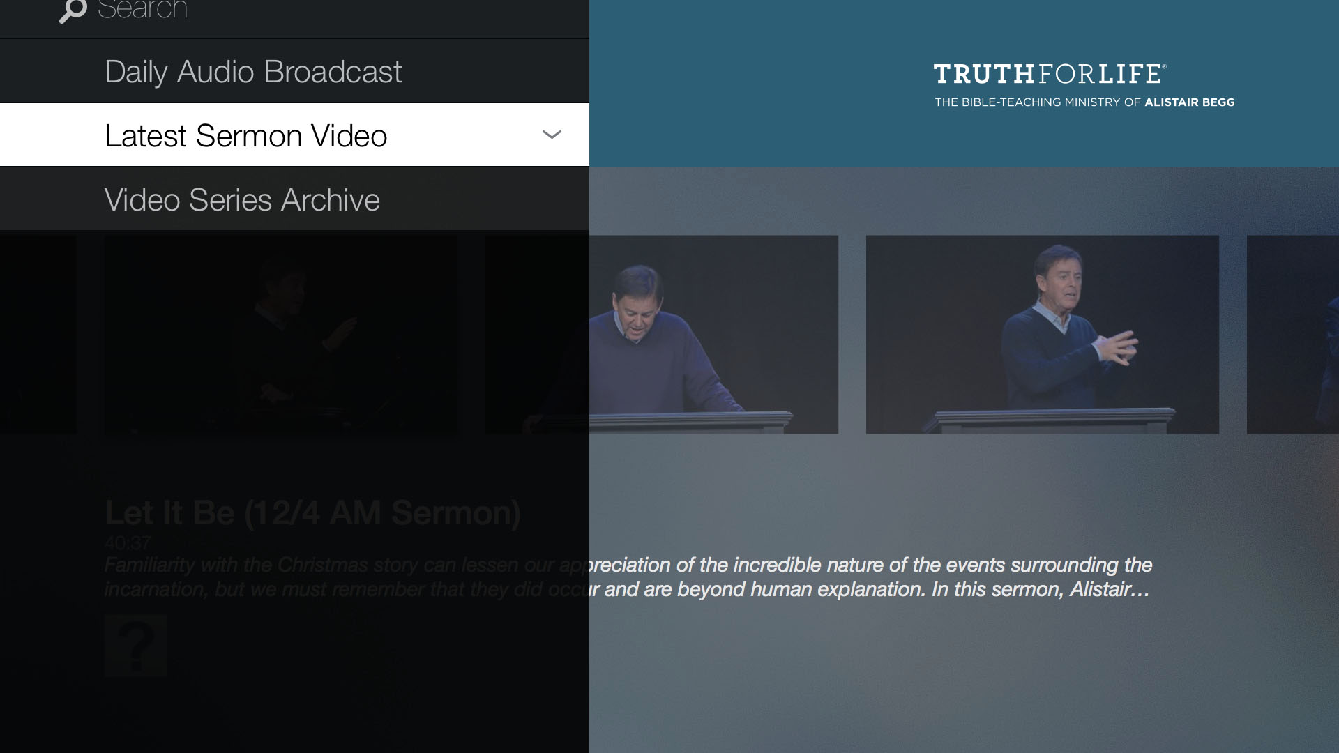 Truth For Life with Alistair Begg Screenshot 001