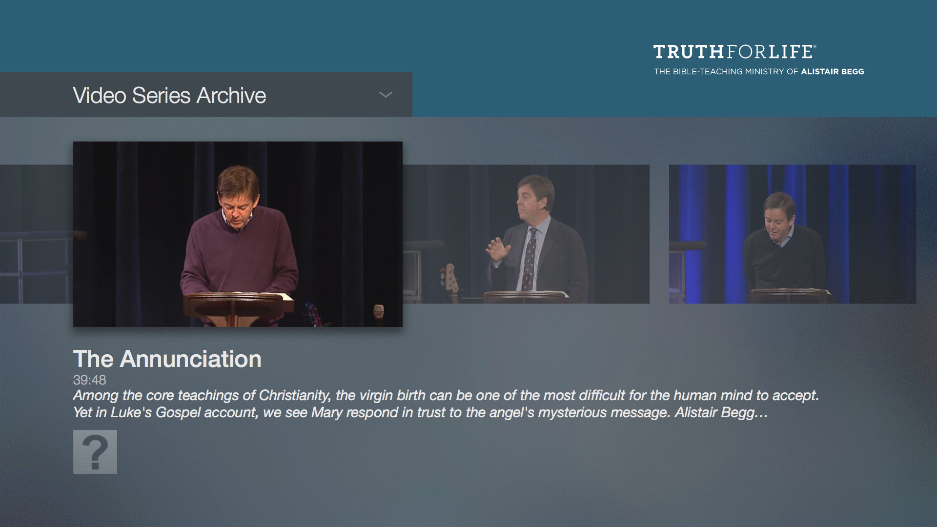 Truth For Life with Alistair Begg Screenshot 002
