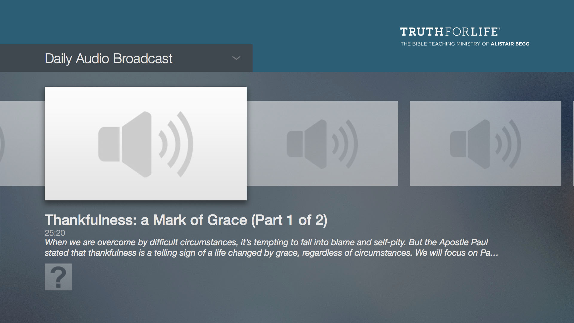 Truth For Life with Alistair Begg Screenshot 003