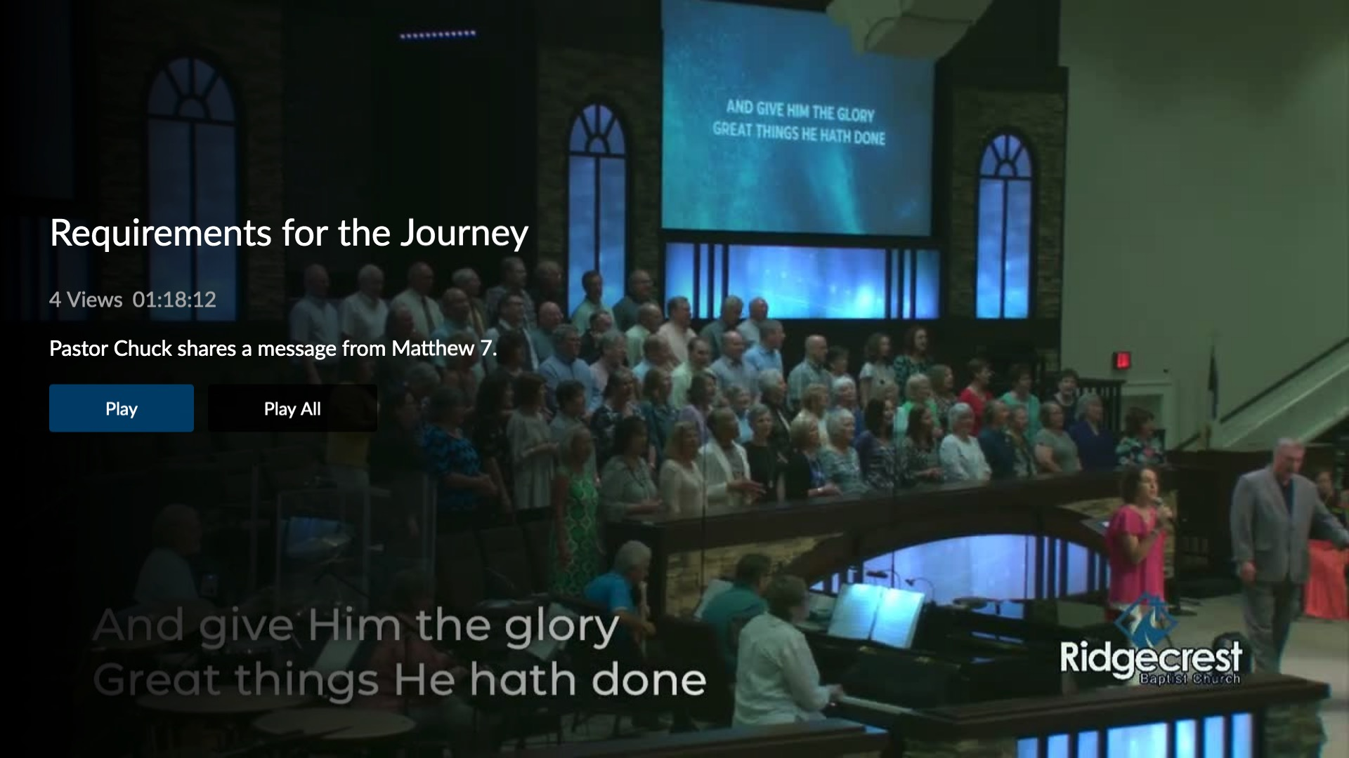 Ridgecrest Baptist Church Screenshot 003