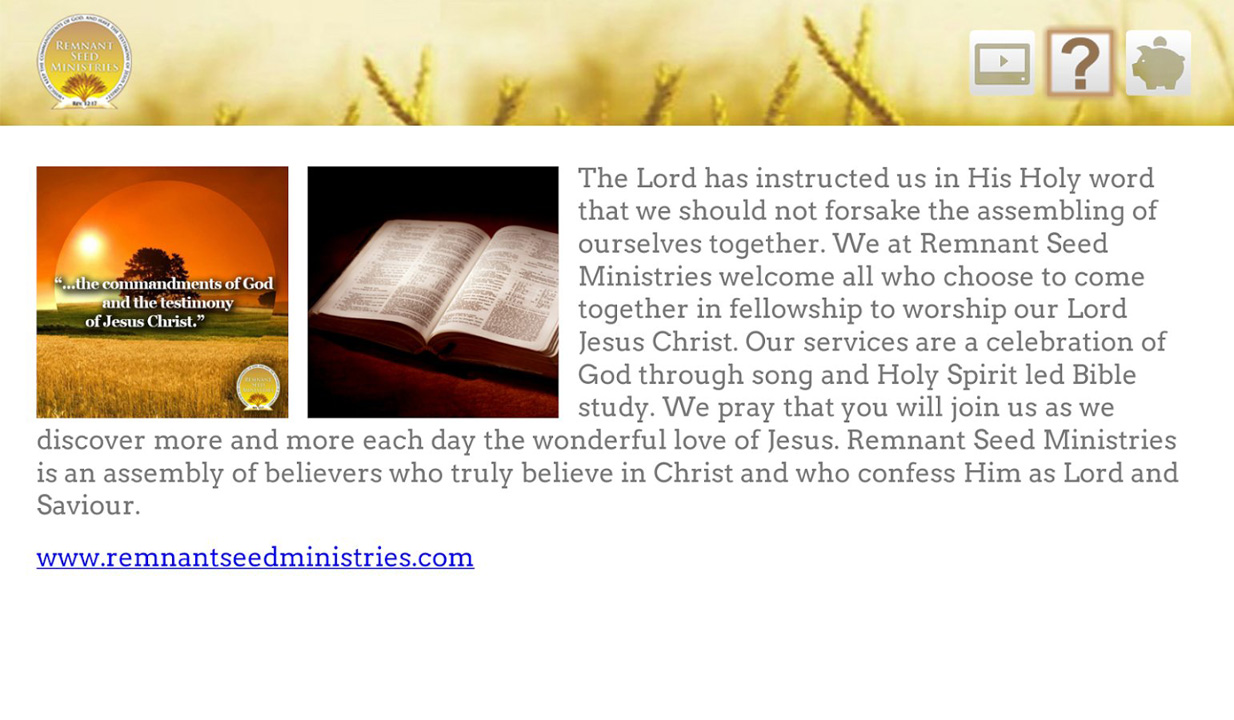 Remnant Seed Ministries Screenshot 003