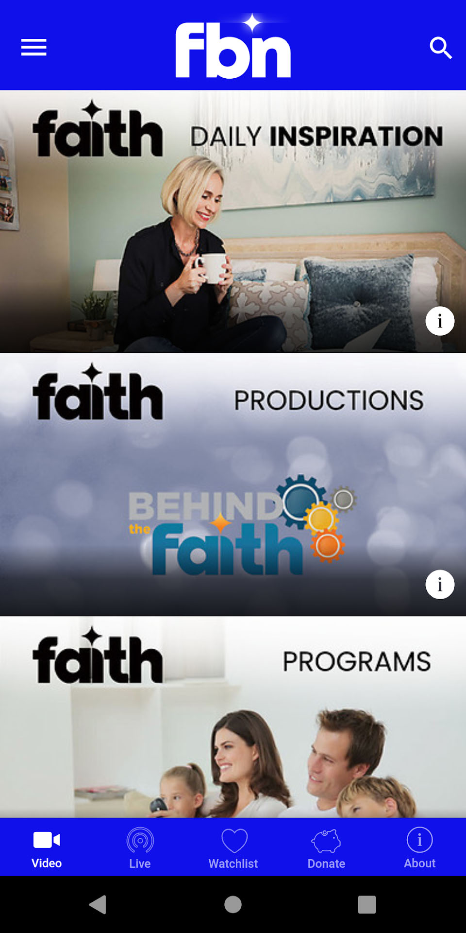 Faith Broadcasting Network Android Screenshot 001