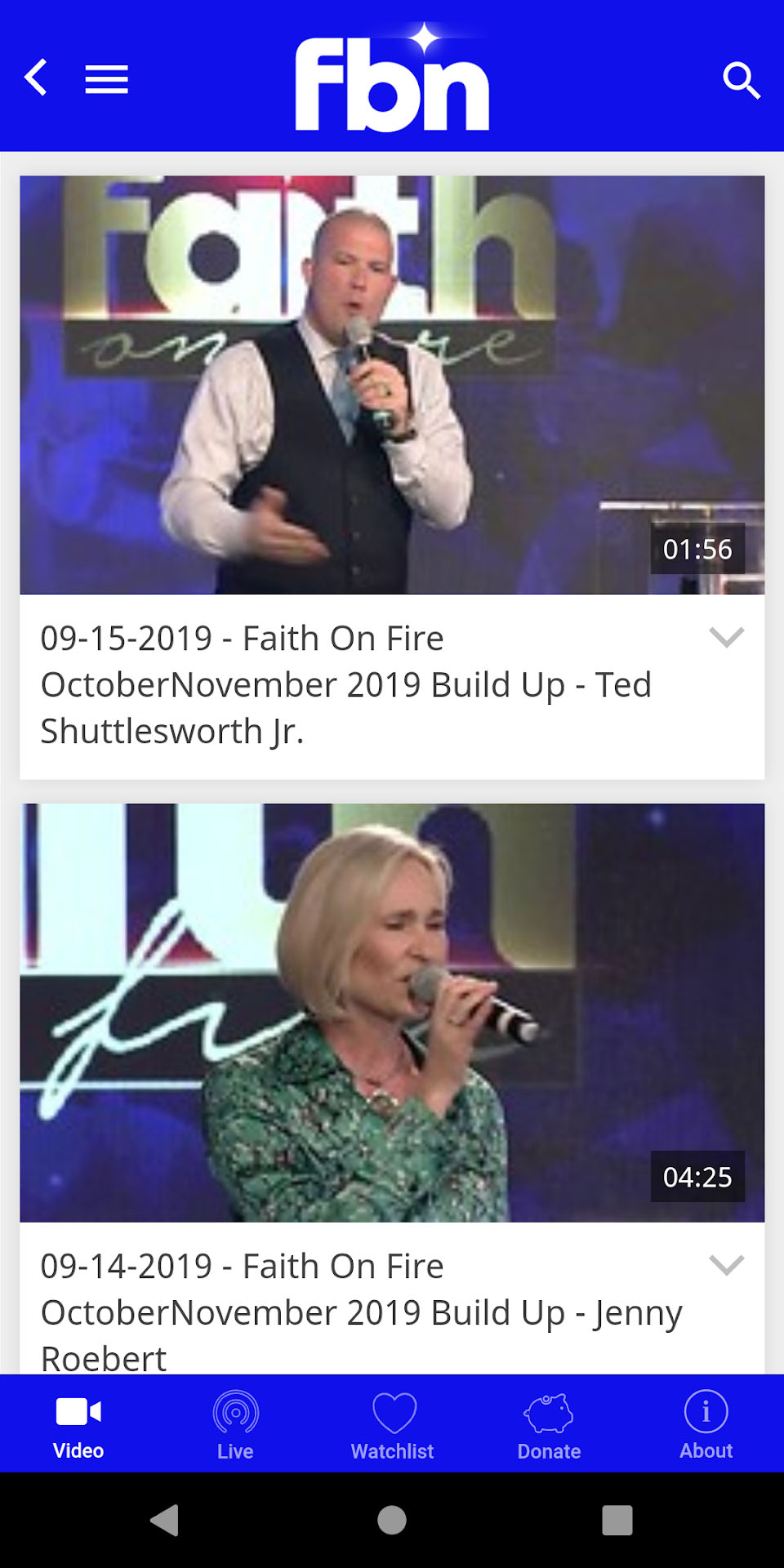 Faith Broadcasting Network Android Screenshot 002