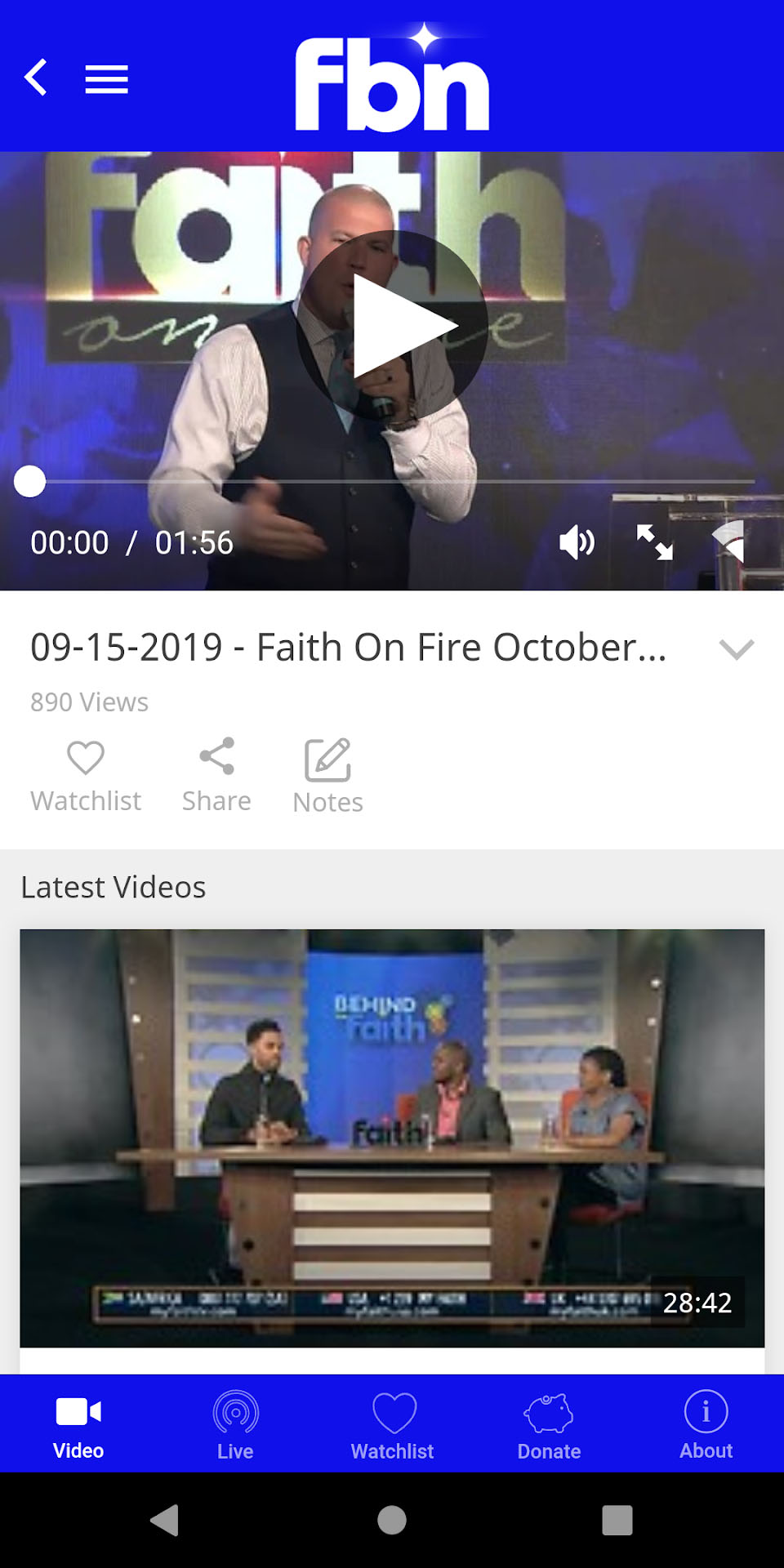 Faith Broadcasting Network Android Screenshot 003