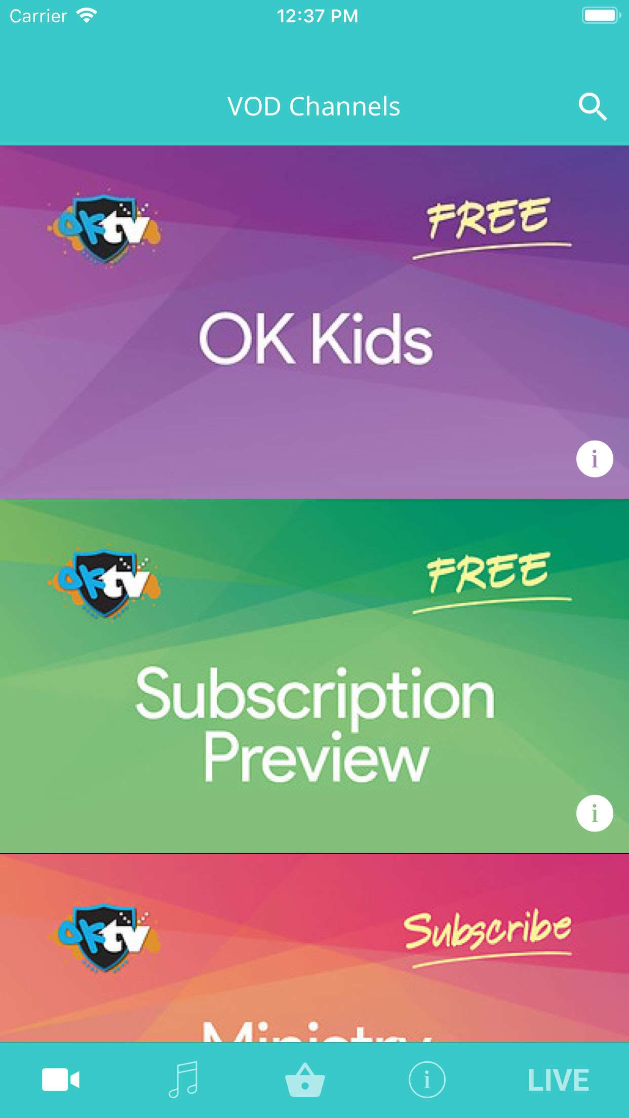 OKTV  - A voice for children  iOS Screenshot 001