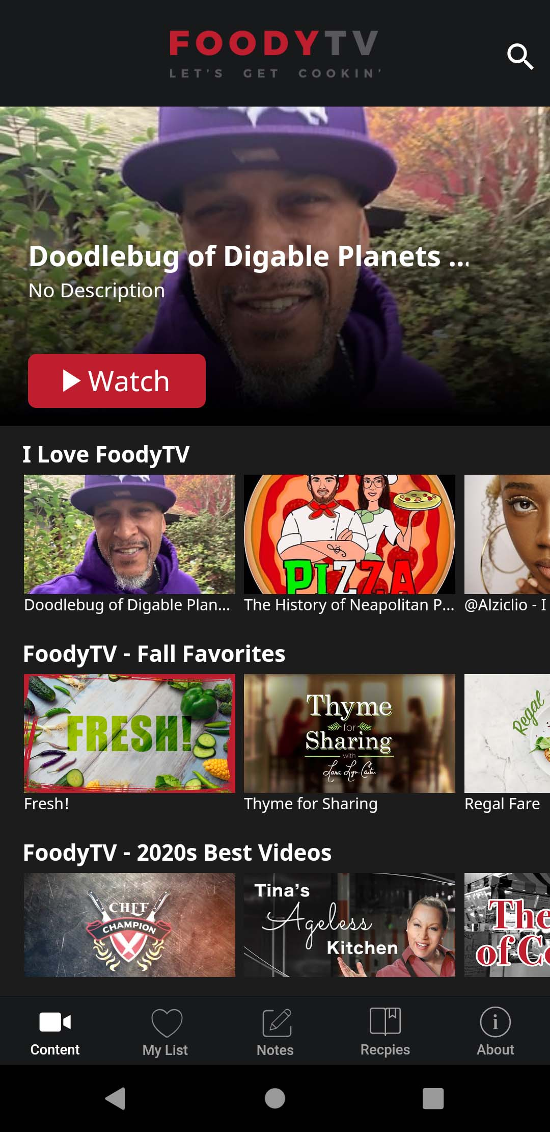 FOODYTV Screenshot 001