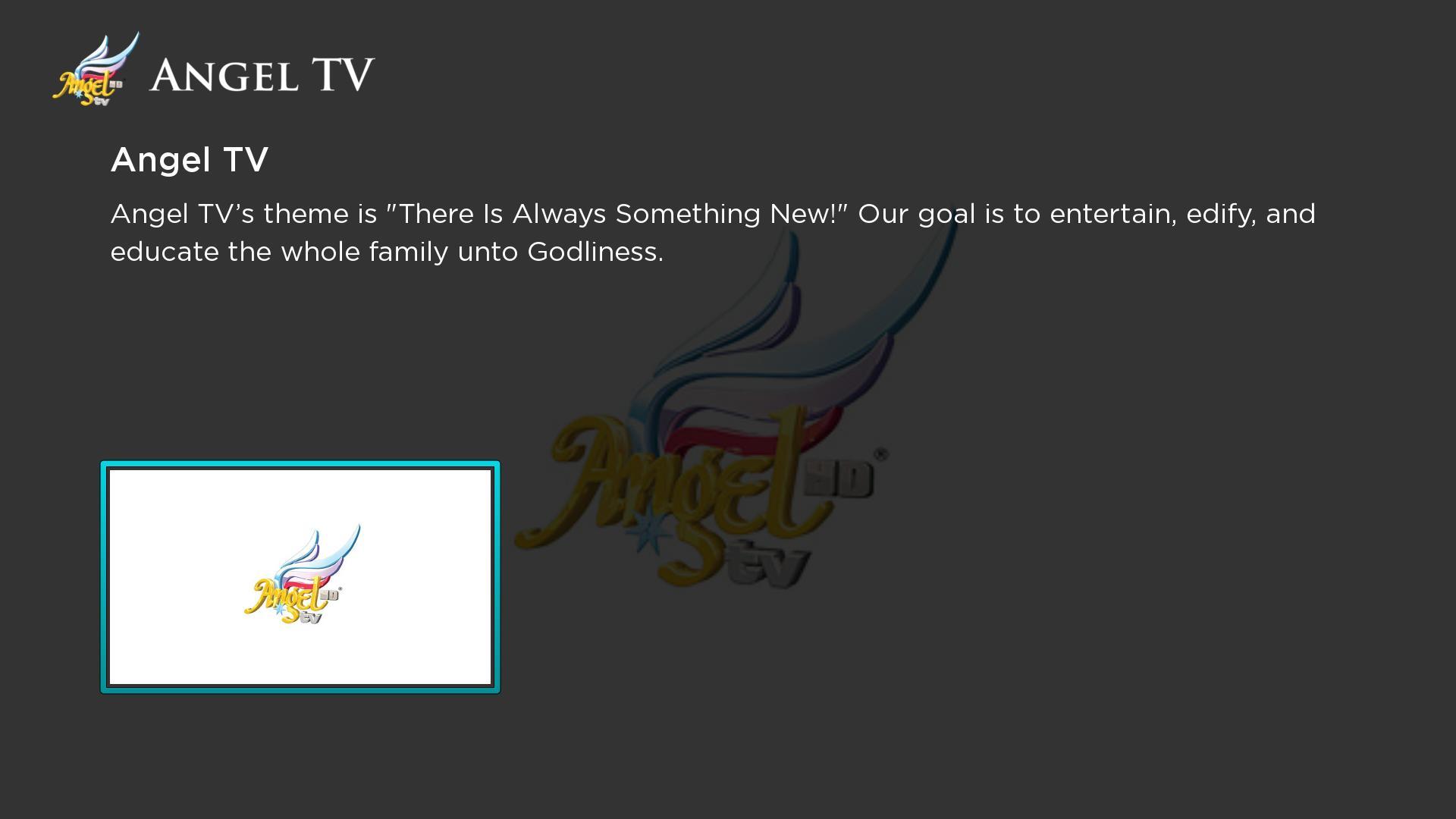 Angel TV - Roku Channel | Lightcast com