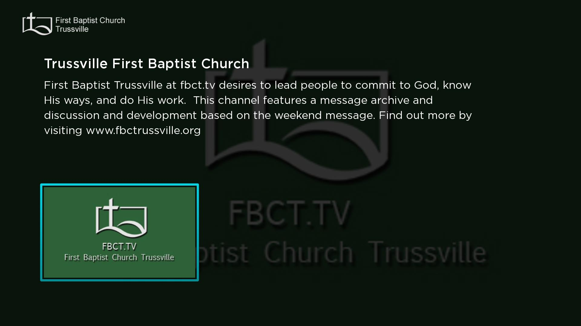 1st Baptist Church Trussville Screenshot 001