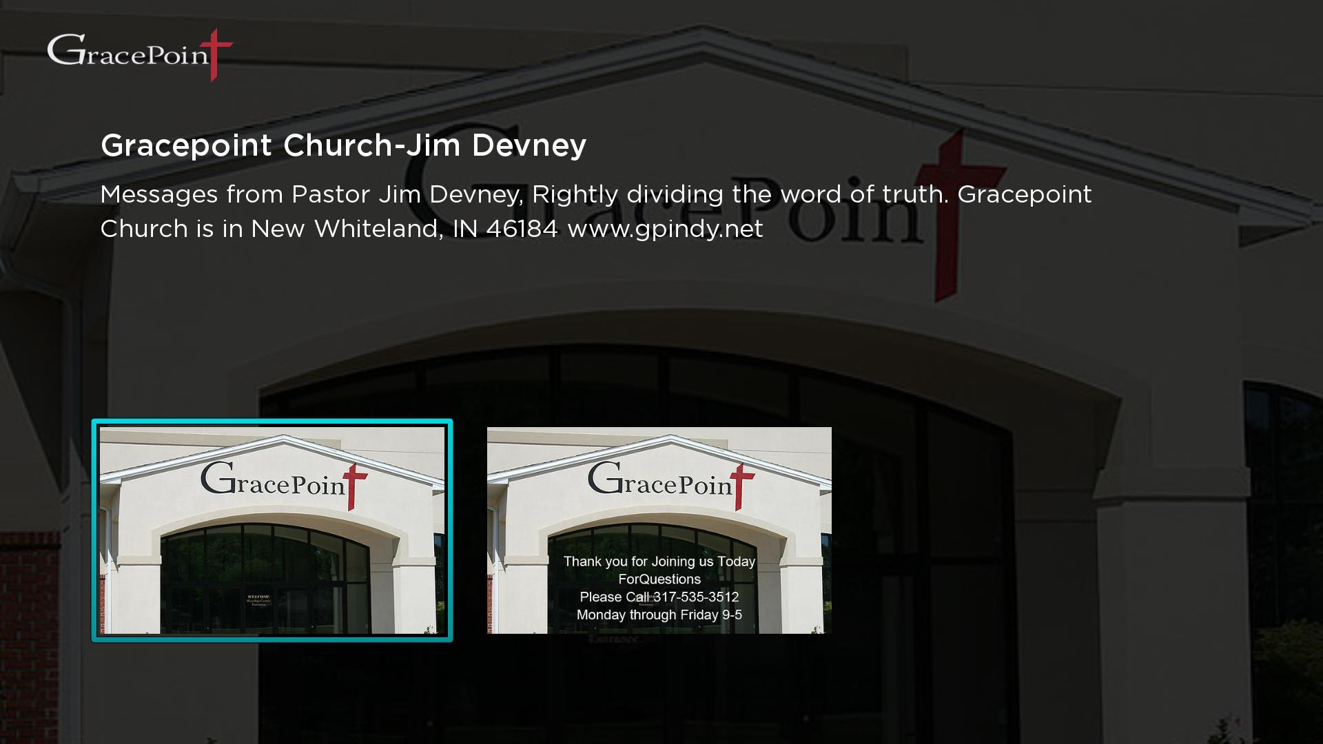 Gracepoint Church - Jim Devney Screenshot 001