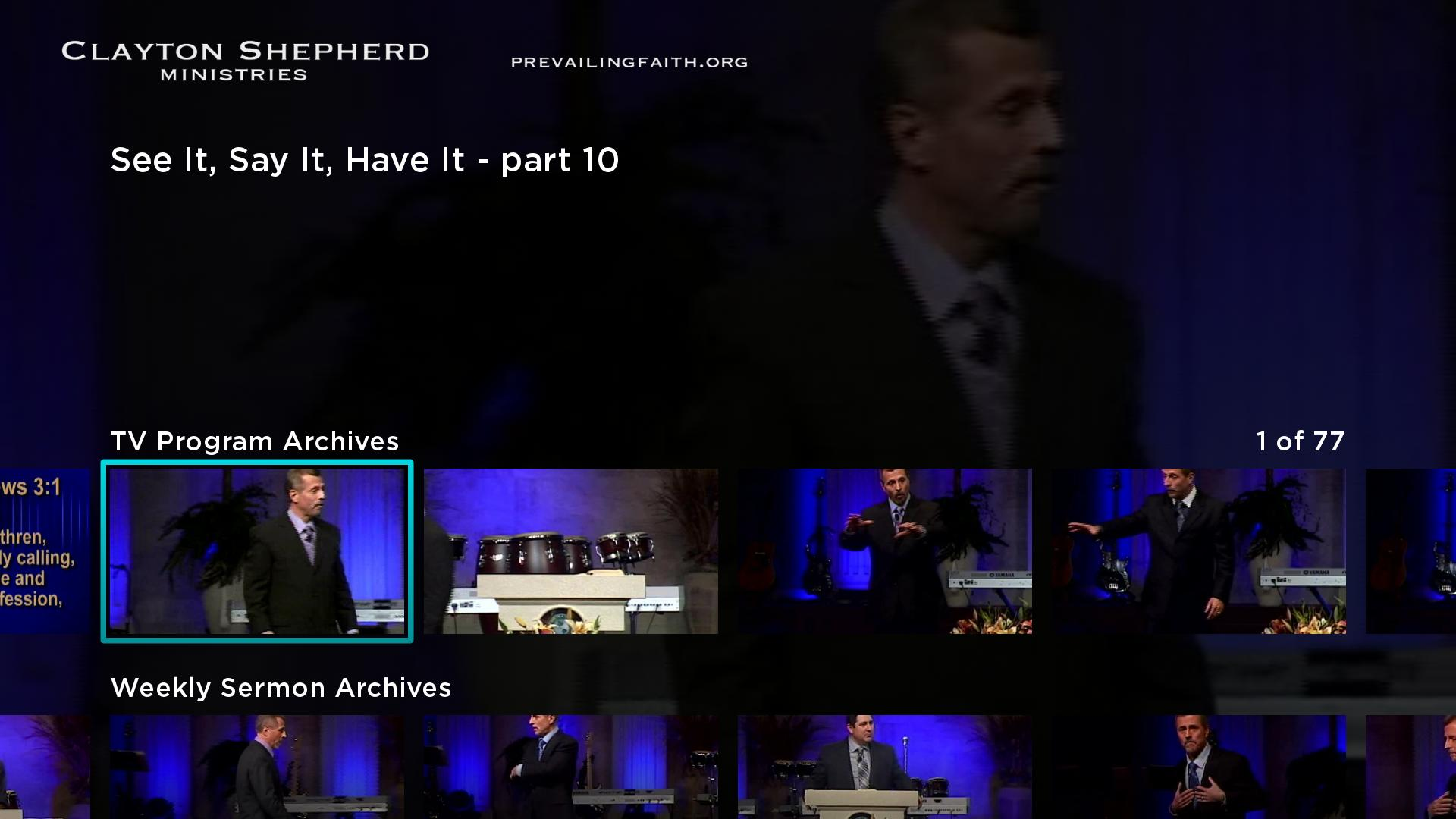 Clayton Shepherd Ministries Screenshot 001