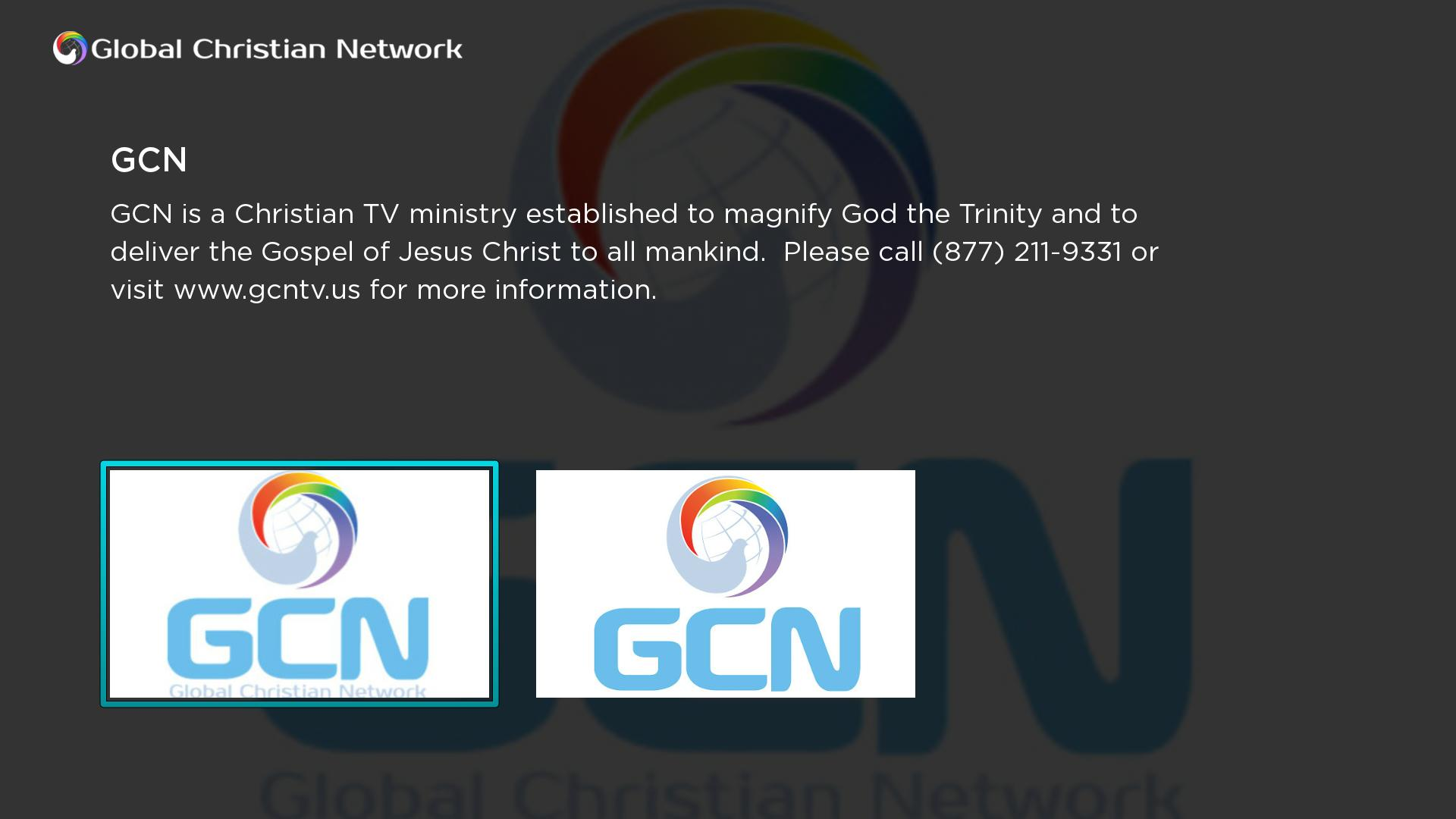 Global Christian Network (GCN) Screenshot 001