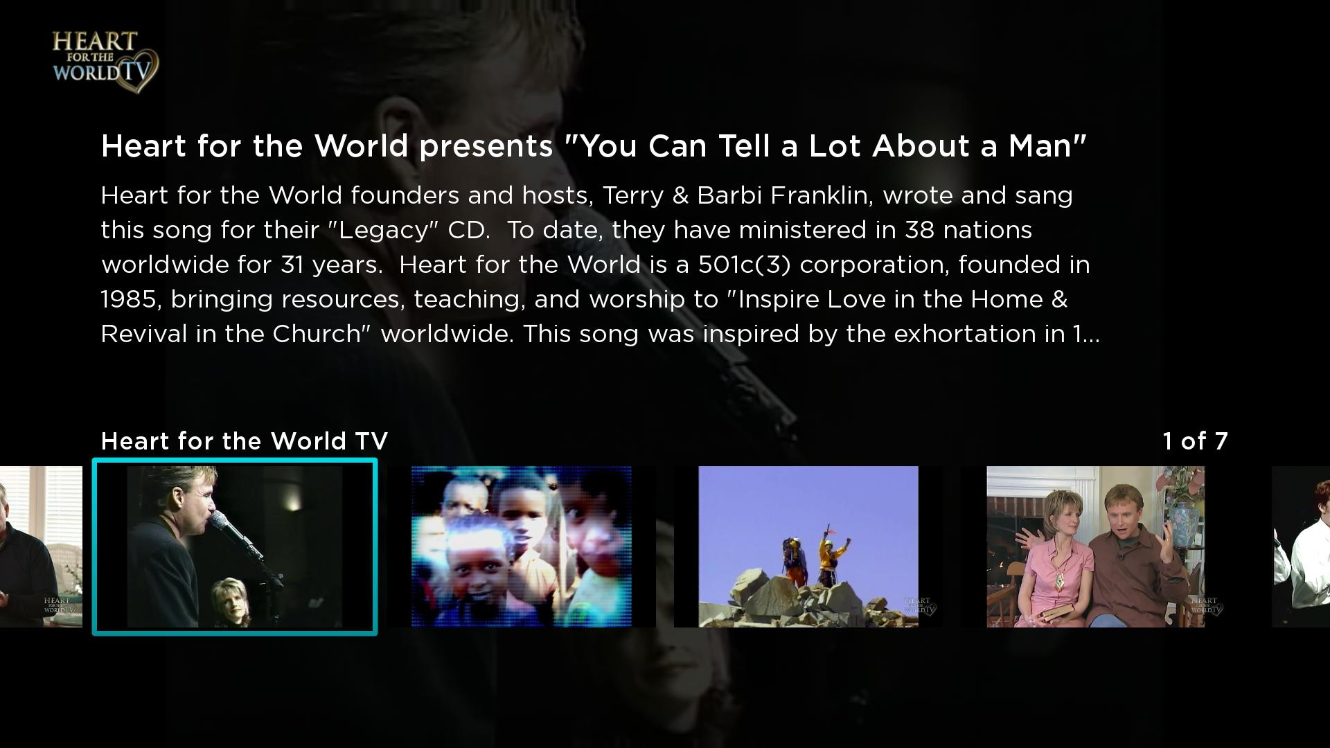 Heart for the World TV Screenshot 002