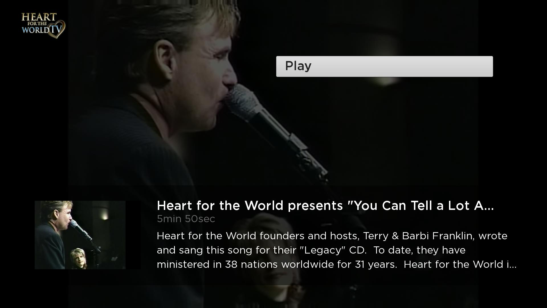 Heart for the World TV Screenshot 003