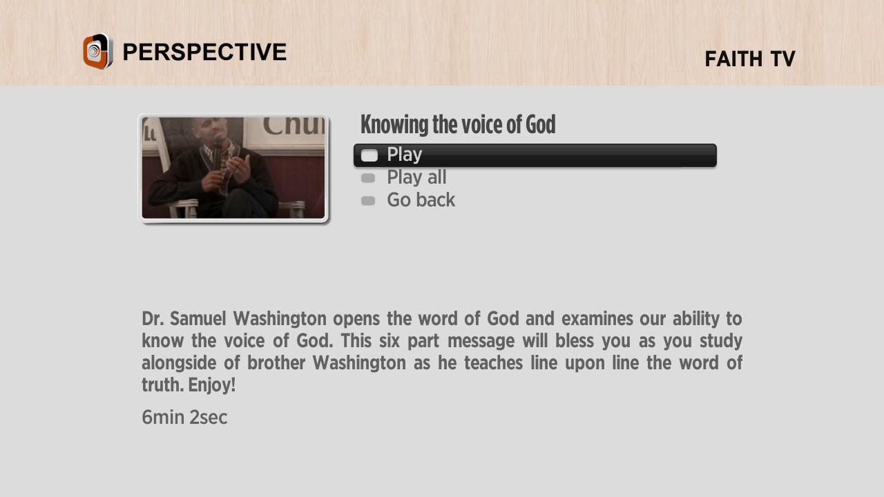 Perspective Television Network Screenshot 003