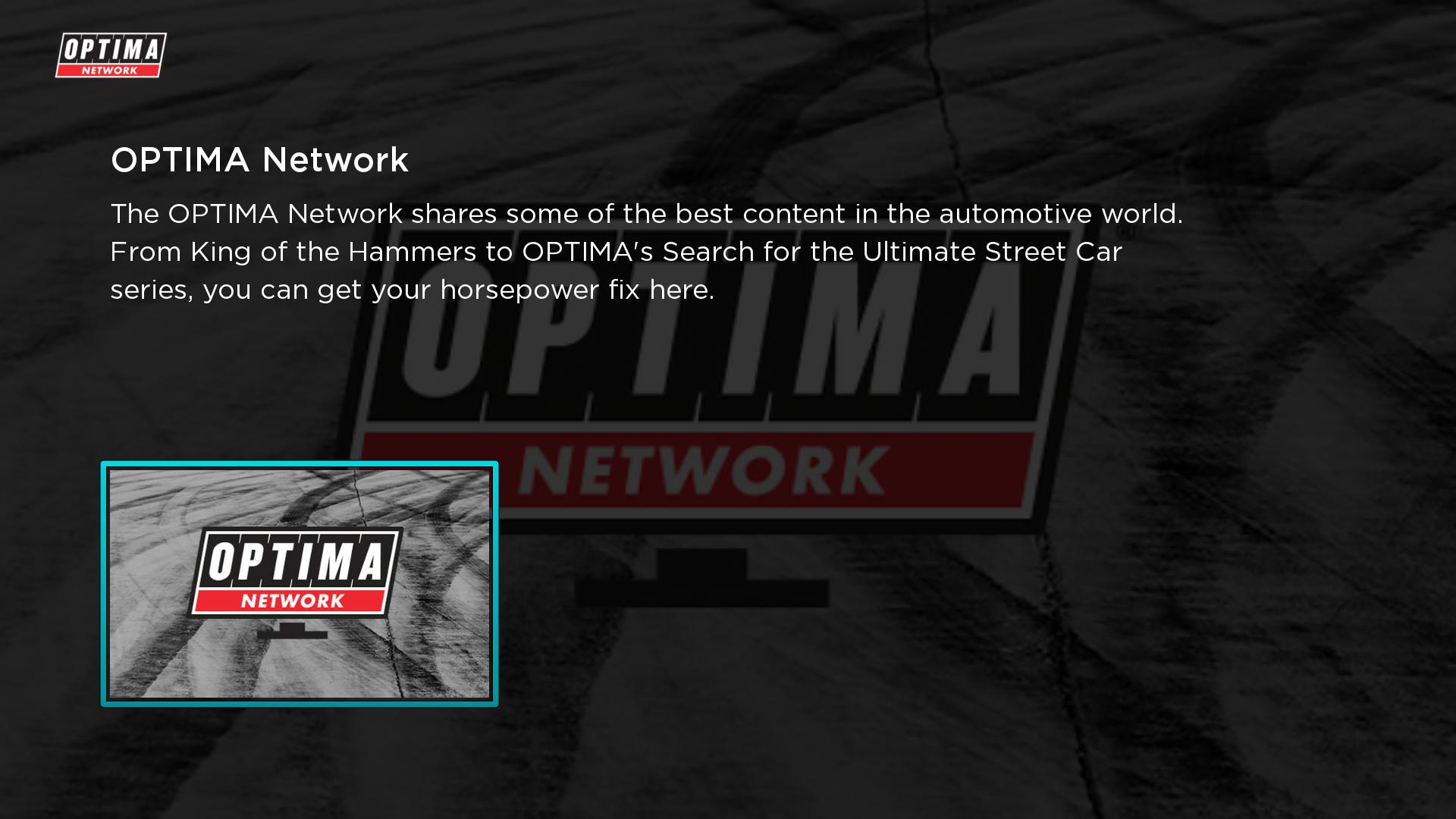 OPTIMA Network Screenshot 001