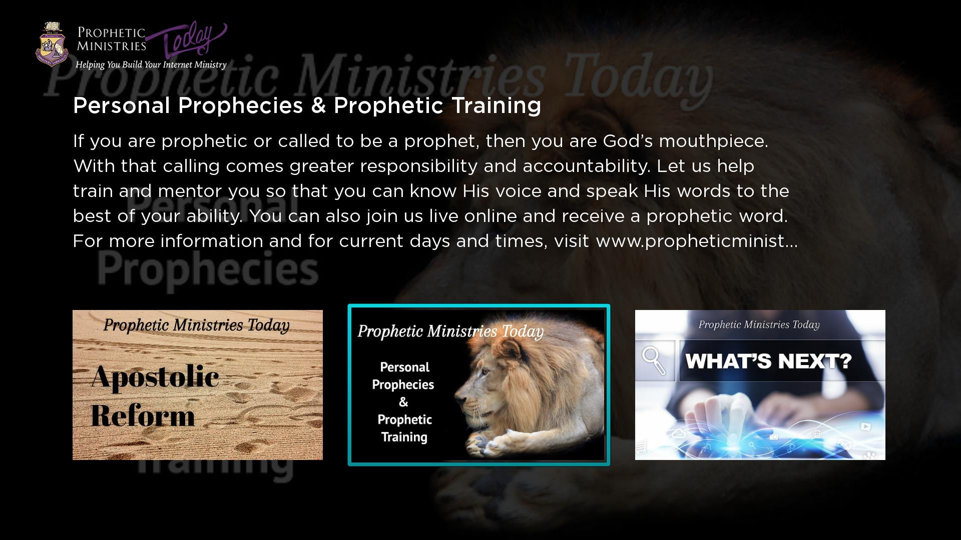 Prophetic Ministries Today Screenshot 001