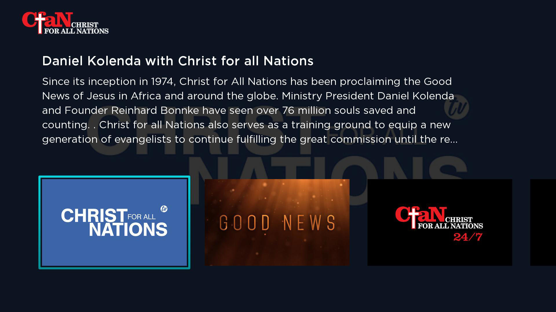 Christ for all Nations Screenshot 001