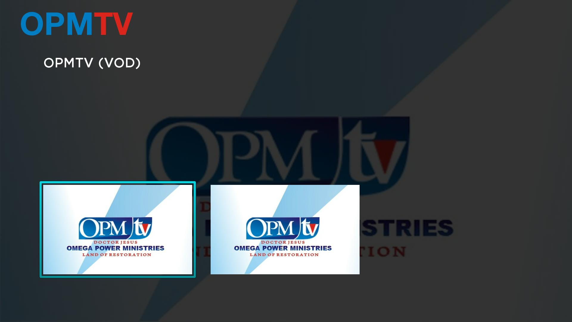 OPMTV Screenshot 001