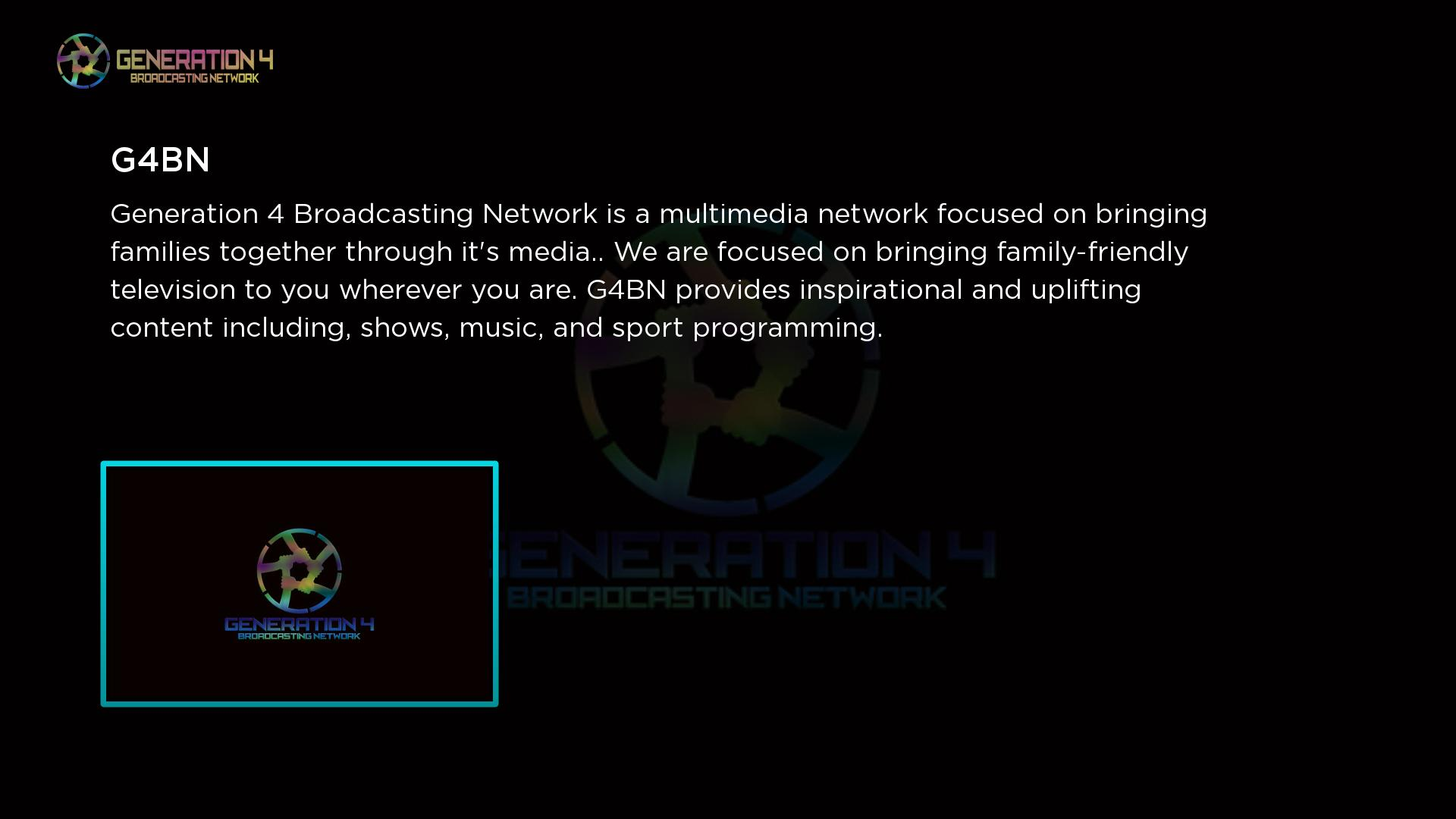 G4 Broadcasting Network Screenshot 001