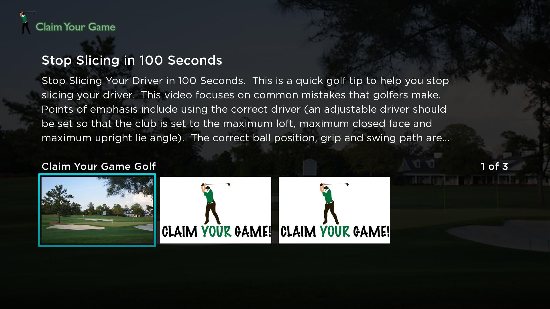 Claim Your Game Golf Screenshot 001