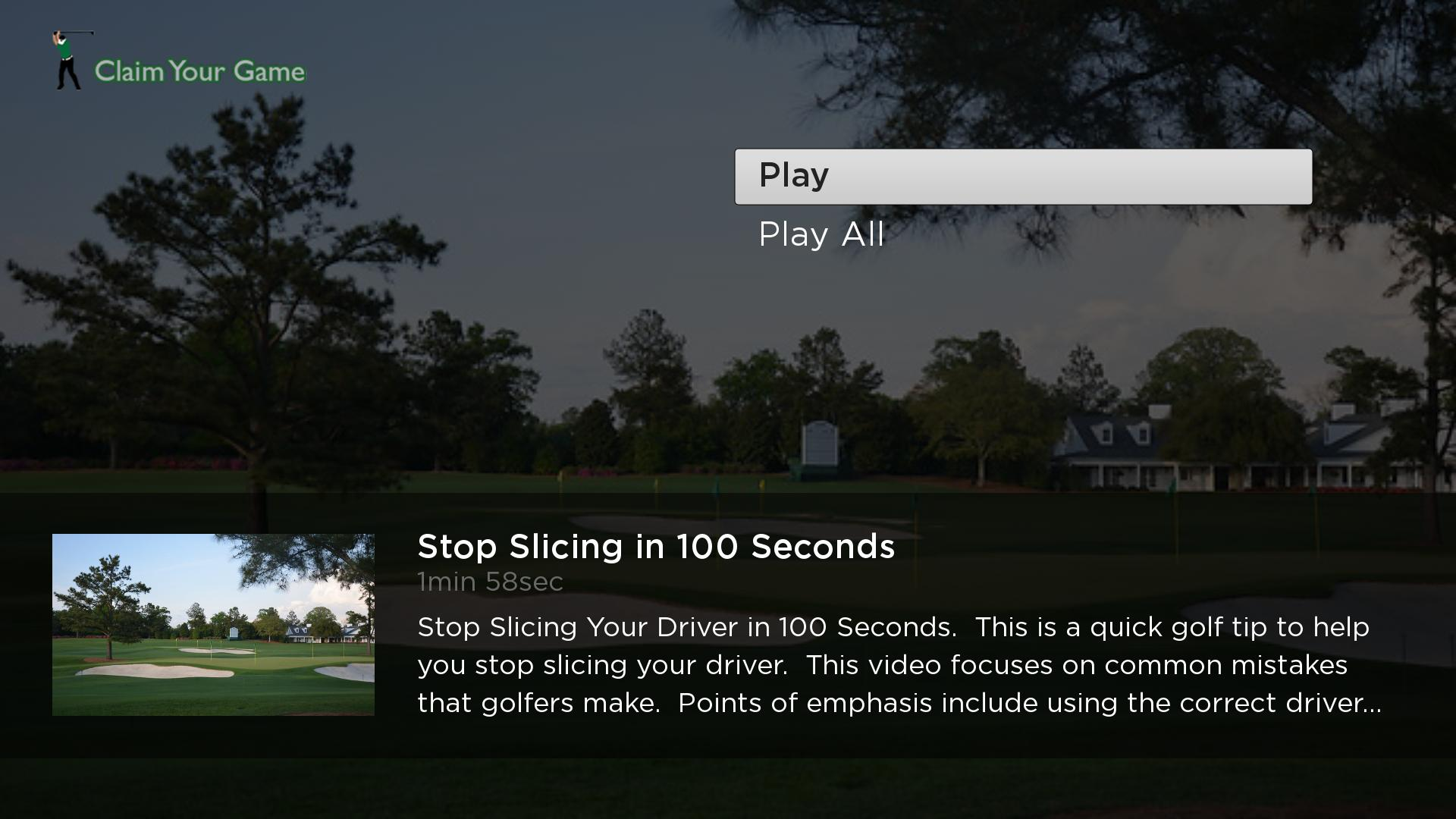 Claim Your Game Golf Screenshot 002